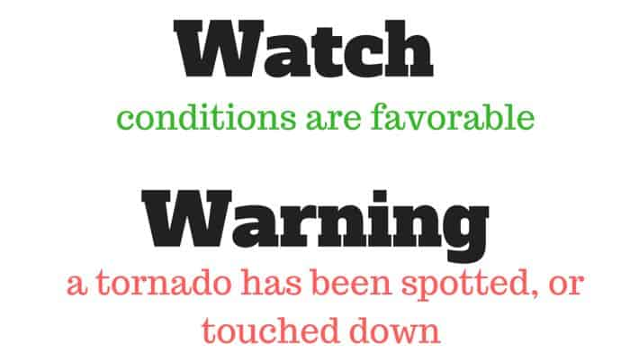 tornado watch warning
