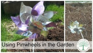 Are you wanting to keep birds and other animals out of your garden? Did you forget which row the carrots are? Here's how to use using pinwheels as garden markers to solve those problems!