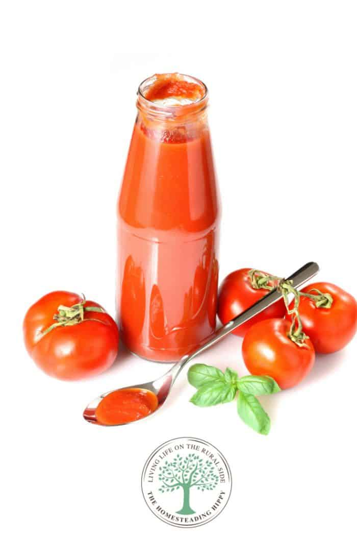 home canned tomato paste