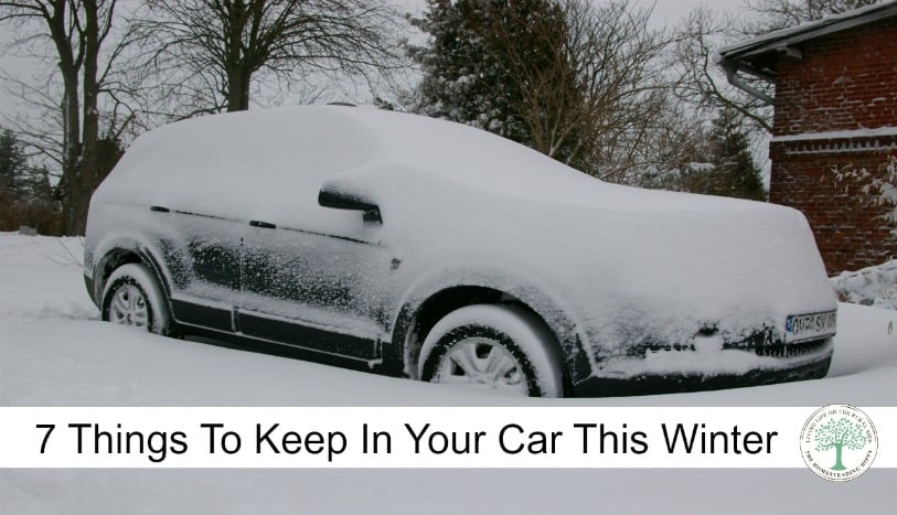 Don't get stranded without an emergency kit in your car! Here are 7 things you should keep in your car in winter! The Homesteading Hippy