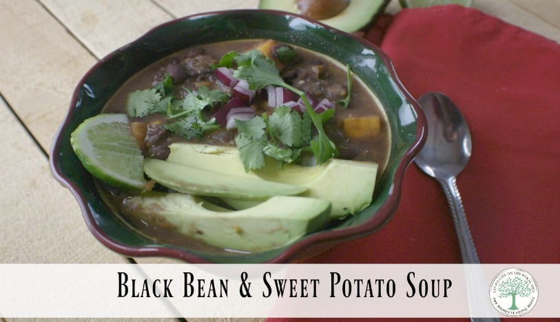 Try this hearty, filling black bean soup! Full of protein and so yummy! The Homesteading Hippy