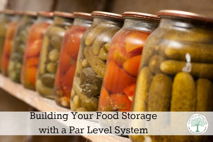 Building a Food Storage with Pantry Par Levels