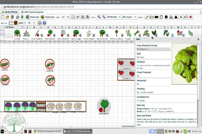 Get your garden planned faster and easier with this online garden planner from JungSeed The HomesteadingHippy #homesteadhippy #fromthefarm #gardening