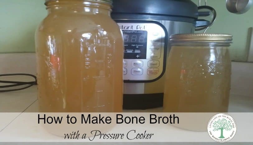 How to make delicious, nutritious bone broth perfect for rice, soups, stews and sauces in 2 hours!  The Homesteading Hippy