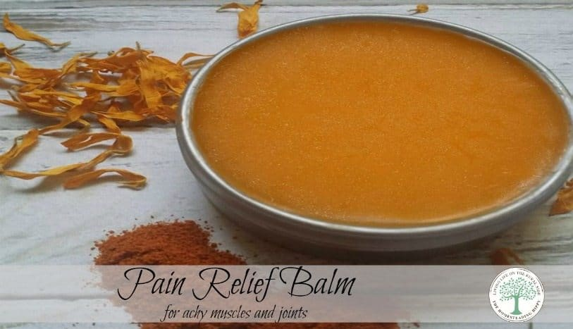 Soothe those tired, achy muscles naturally with this herbal pain relief salve. The Homesteading Hippy #homesteadhippy