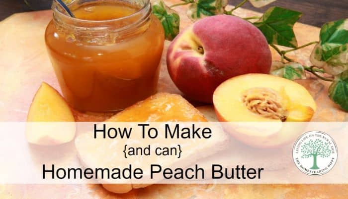 homemade peach butter post