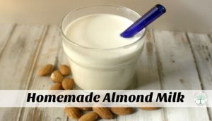 homemade almond milk post