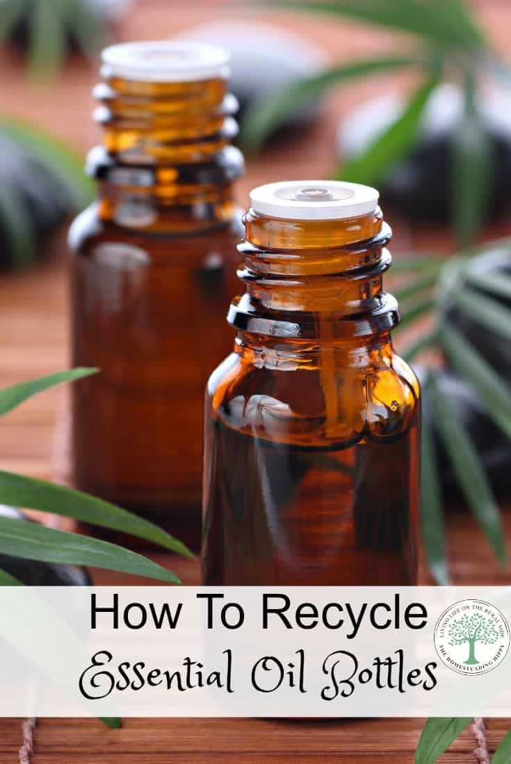Do you have a lot of essential oil bottles laying around? Here's a way to clean and reuse your essential oil bottles! The Homesteading Hippy