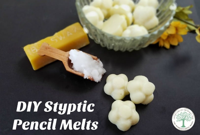 Stop the bleeding from minor cuts with these DIY styptic pencil melts! The Homesteading Hippy