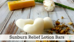 Sunburn Relief Lotion Bars With Chamomile And Aloe