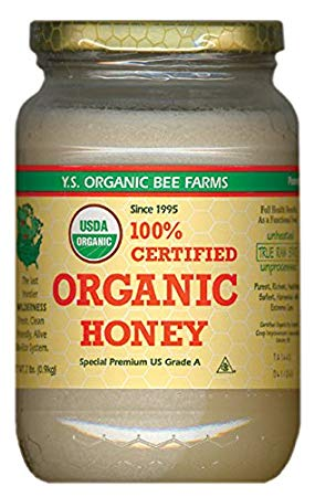 YS Organic Bee Farms 100% CERTIFIED ORGANIC HONEY Raw, Unprocessed, Unpasteurized - Kosher 32oz(pack of 1)