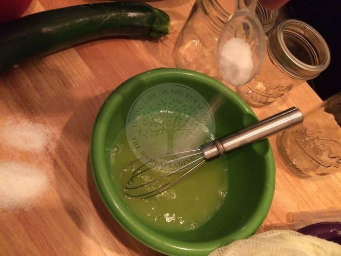 Zucchini Brine