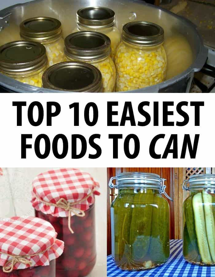 easy foods to can pin