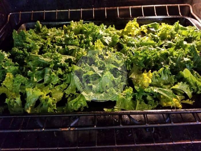 kale baking sheet