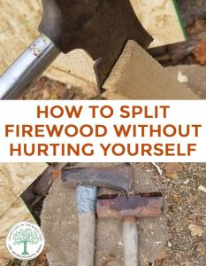 how to split wood pin
