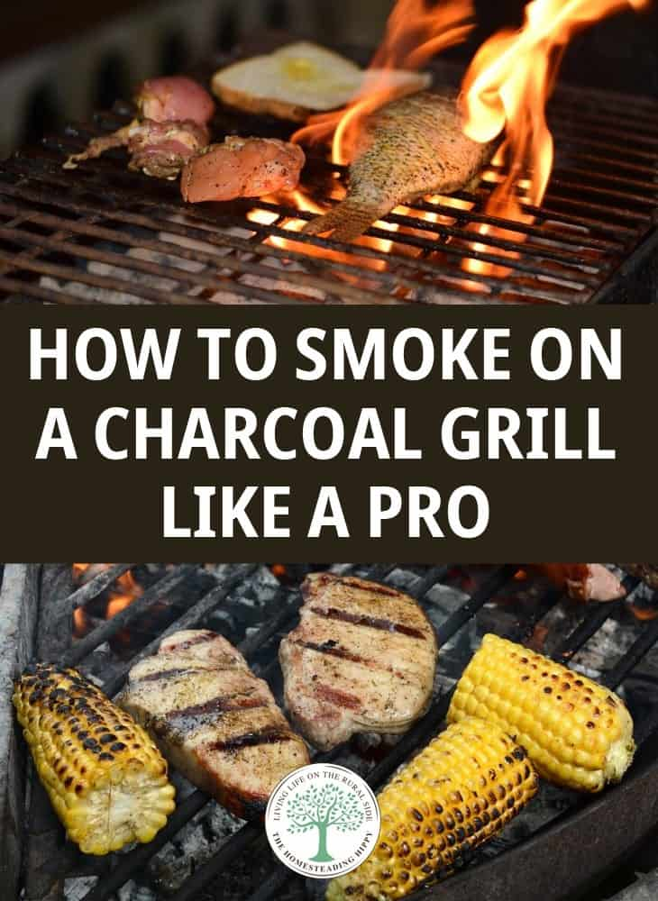charcoal grill smoking pin