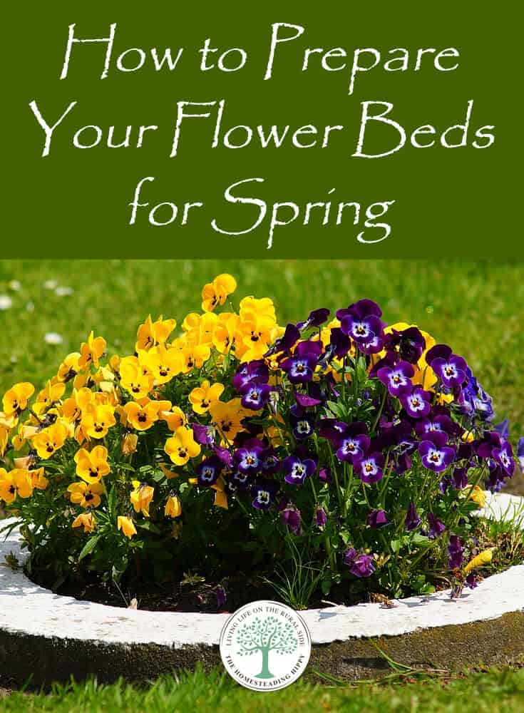 prepare flower beds spring pin