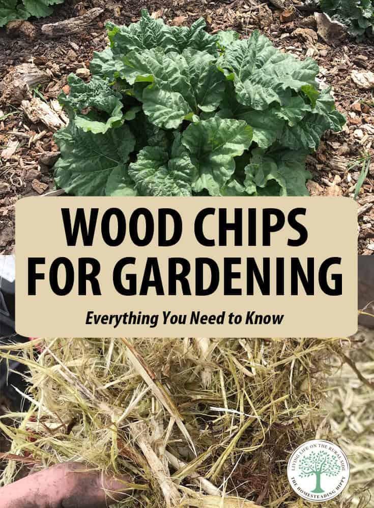 wood chips gardening pin