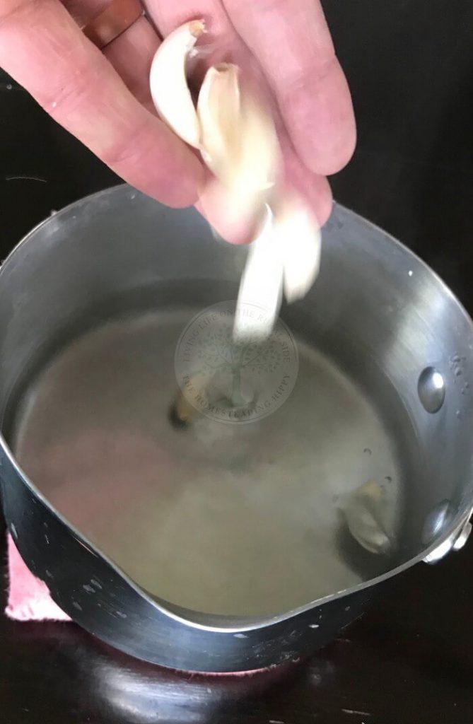 garlic boil method step 1