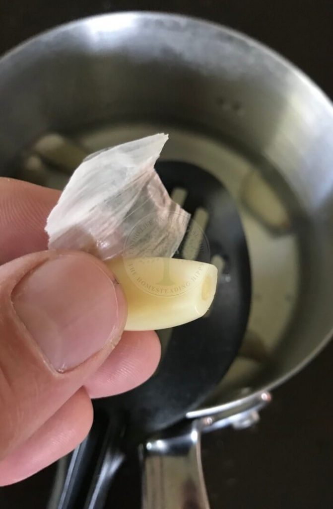 garlic boil method step 2