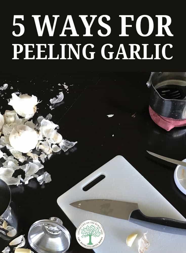 peeling garlic pin