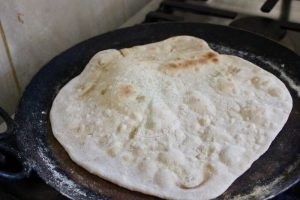 flat bread puffs up when dry frying