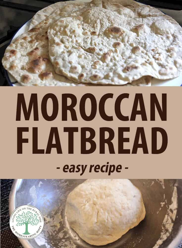 moroccan flatbread recipe pin