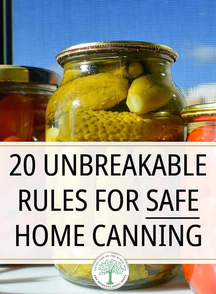 safe canning rules pin