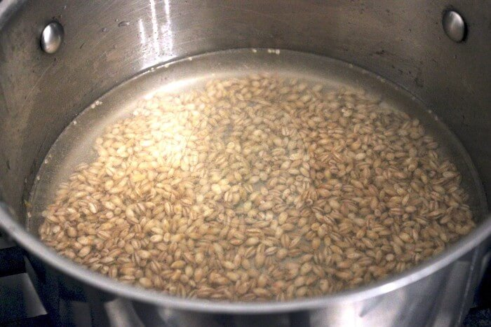 Boiling the barley