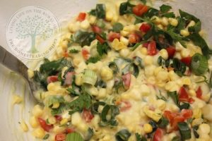 batter with sweetcorn mix