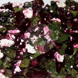 Beetroot Salad with Cilantro and Feta Recipe
