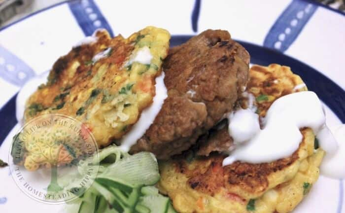 fresh sweetcorn fritters