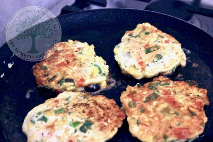 golden sweetcorn fritters ready to serve