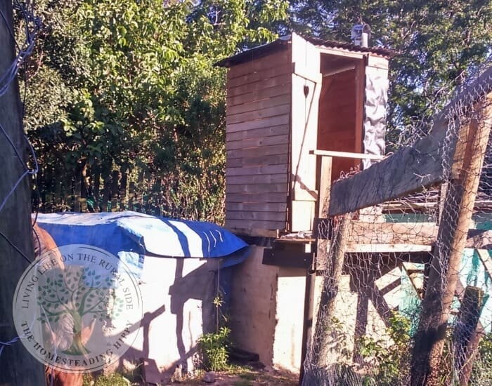 compost toilet on block