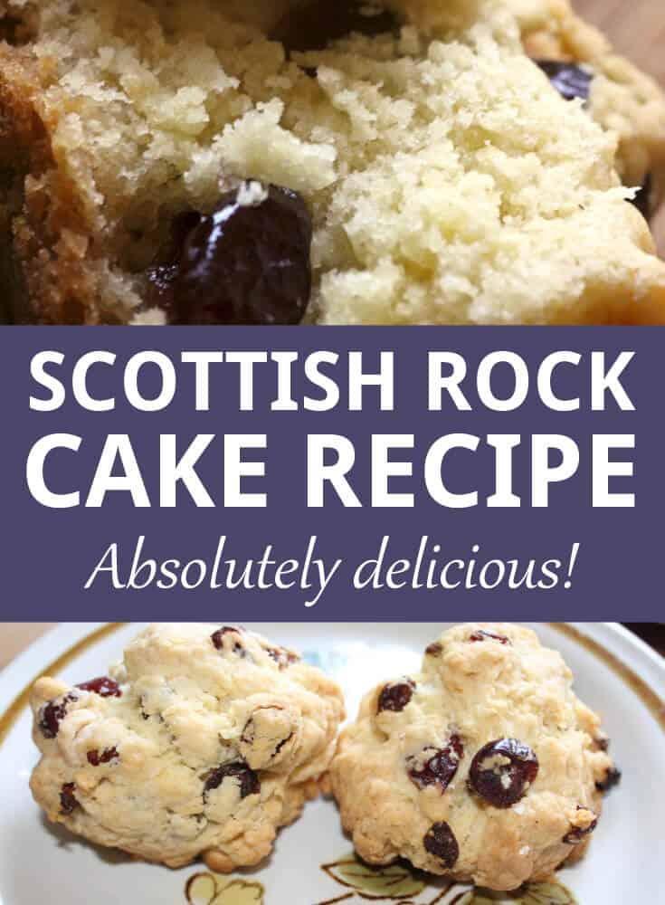 scottish rock cake recipe pin