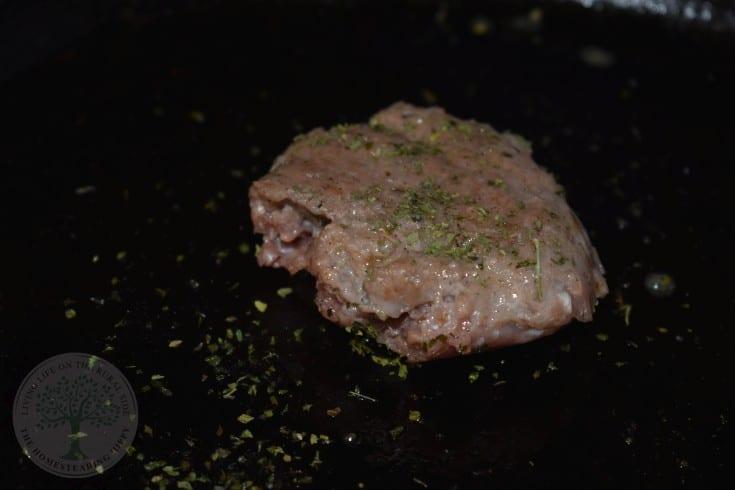 finished sausage patty