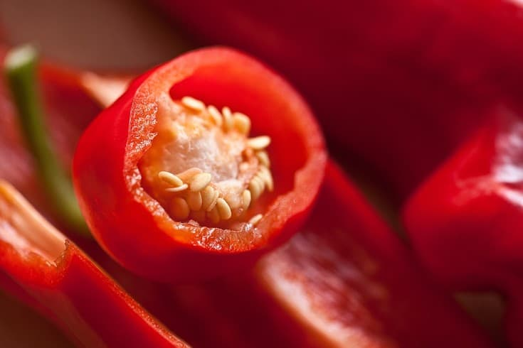 paprika pepper and seeds