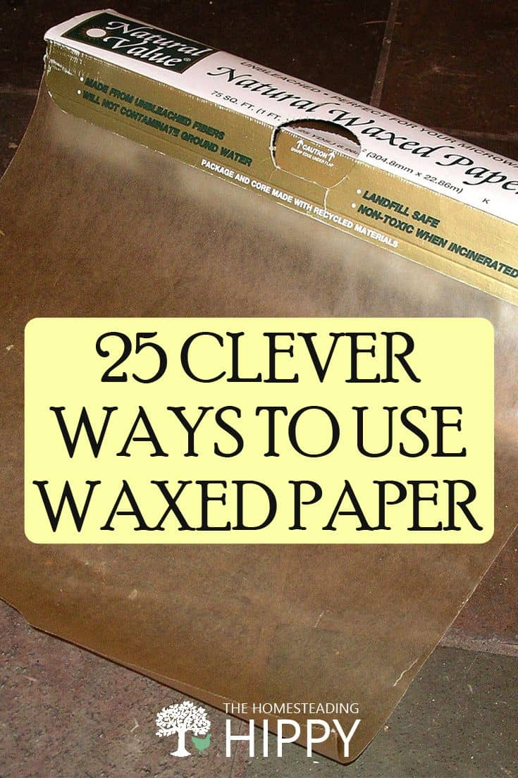 waxed paper pin photo