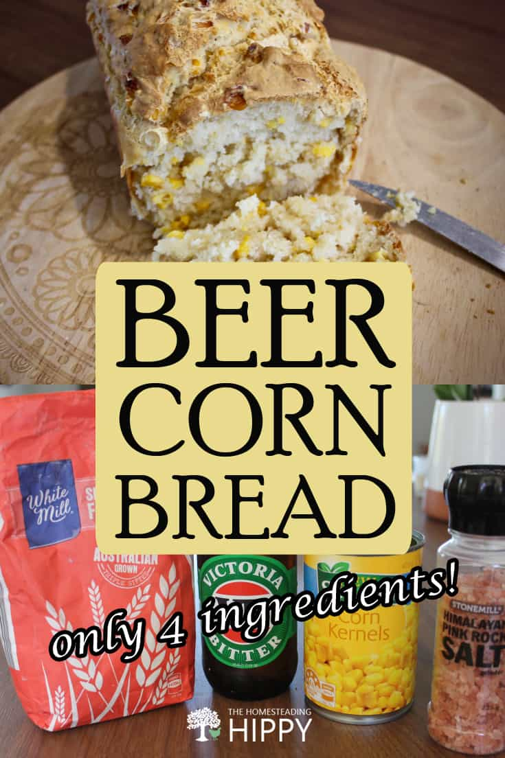 beer corn bread pin