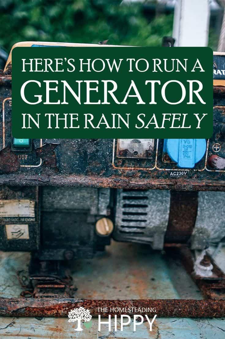 generator in rain pin