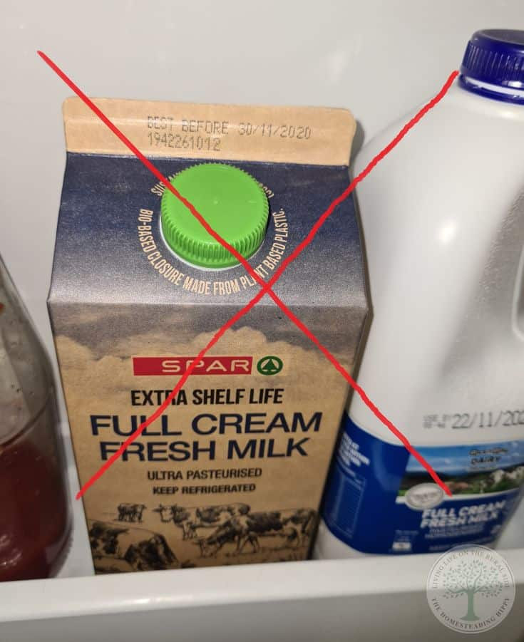 milk box in fridge door