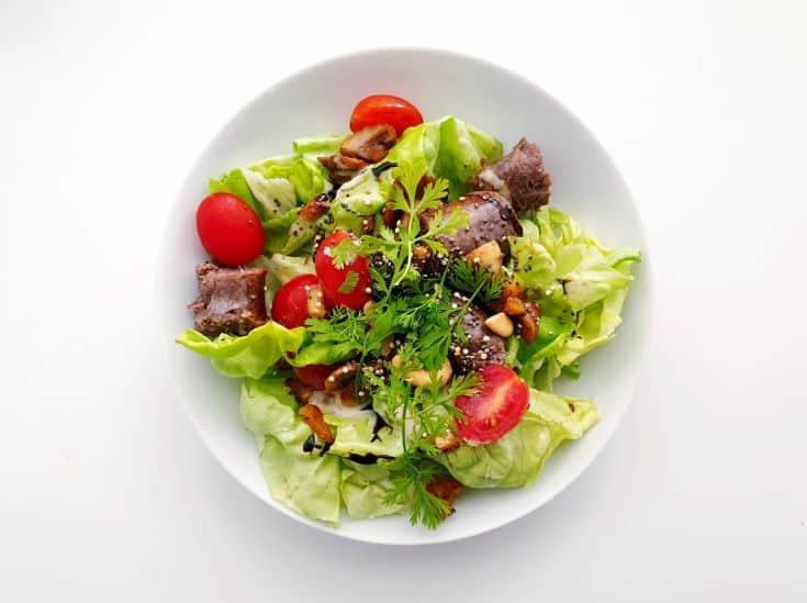 boerewors in salad