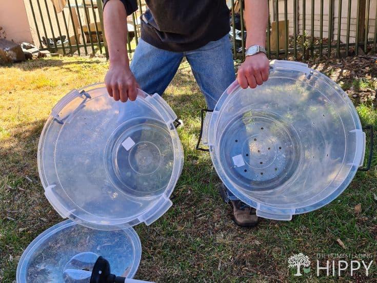 DIY Washing machine from two buckets