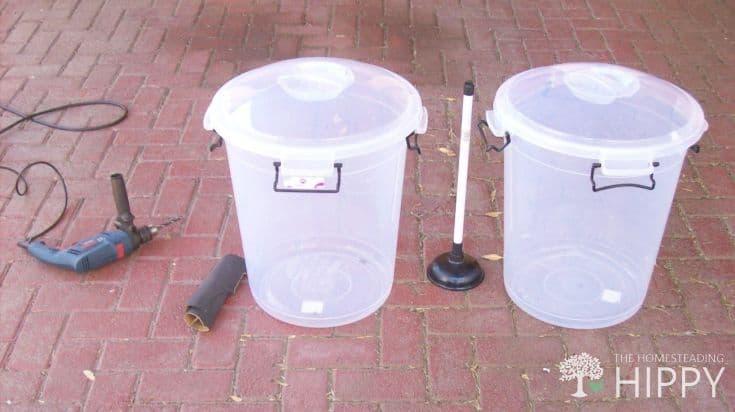 DIY washing machine supplies