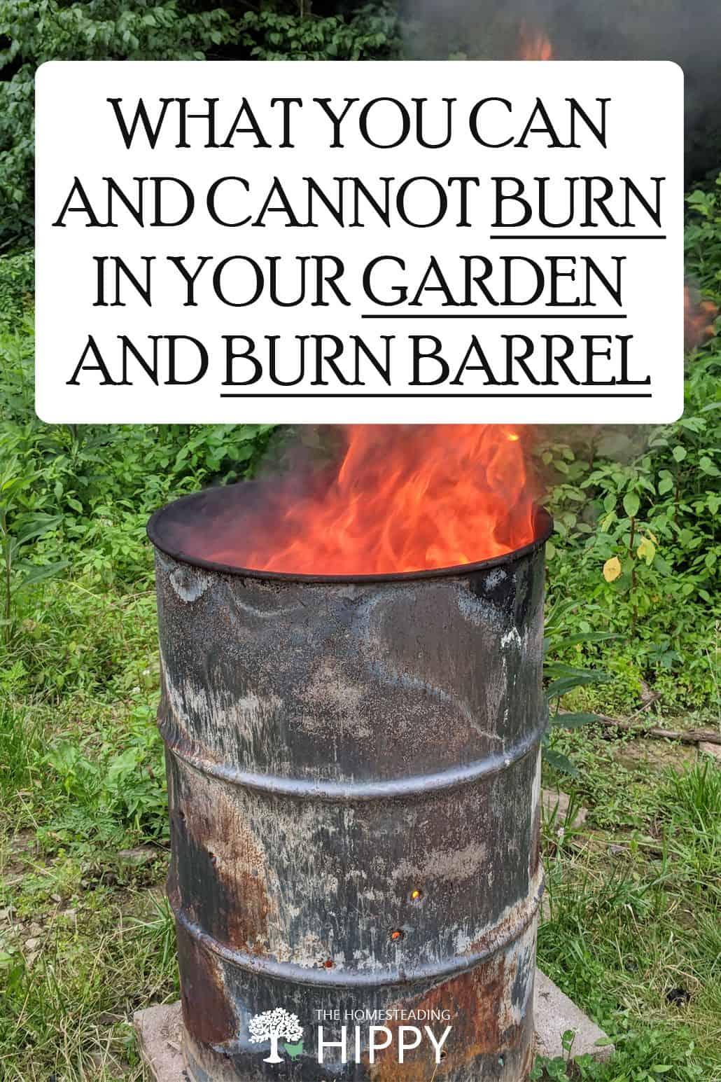 burn barrel pin