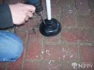 drilling holes in plunger