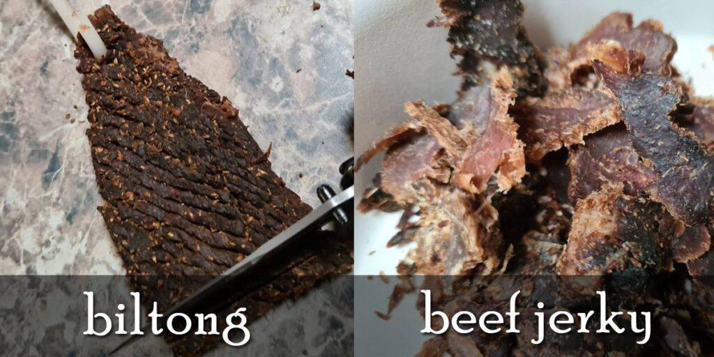 biltong vs beef jerky