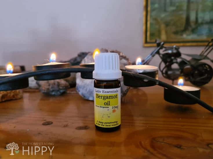 essential oil and tealight candles