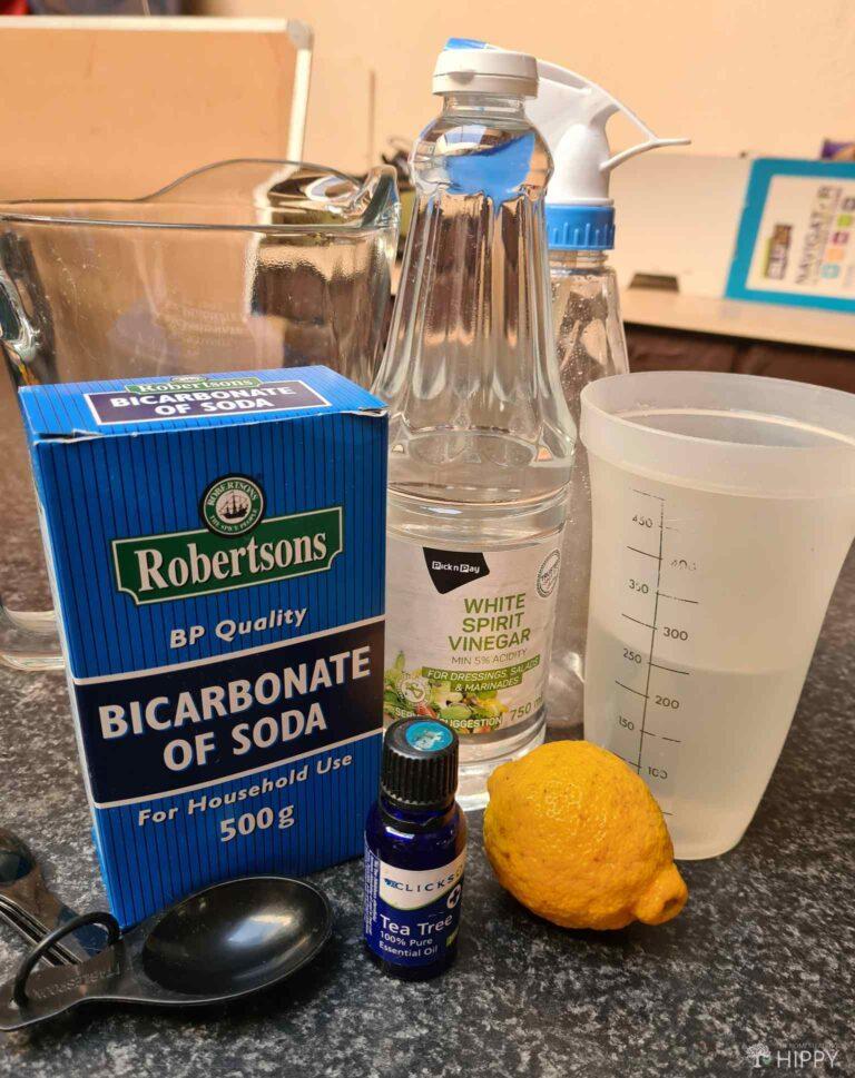 white vinegar baking soda tea tree oil ingredients for bathroom cleaner